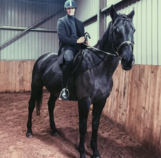 Jake Hall goes horse riding with Chloe Lewis 6 November