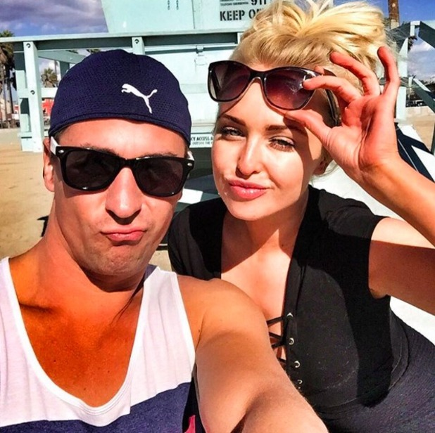 Jorge Porters holidays in LA with DOI partner Matt Evers, 6 November 2015.