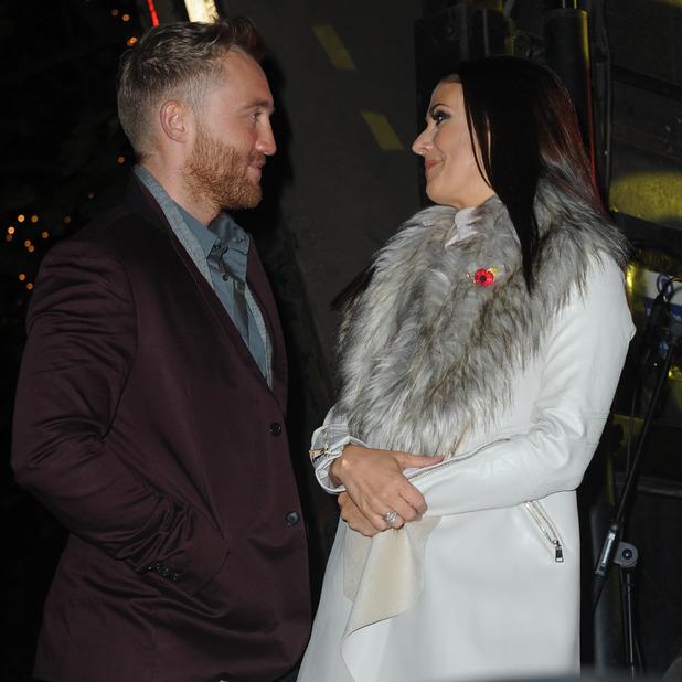 Kym Marsh and boyfriend Matt Baker in Manchester, 7 November 2015.
