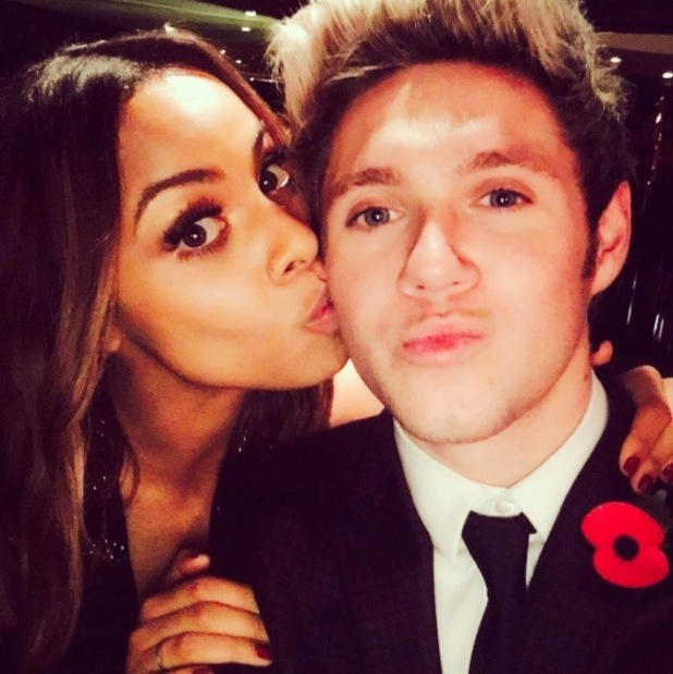 Rochelle Humes and Niall Horan share selfie to Instagram, 3rd November 2015