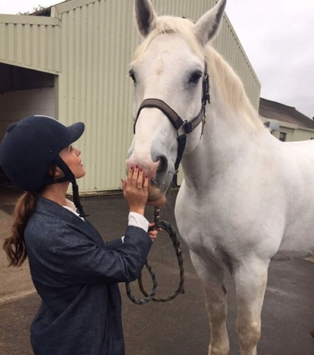 Chloe Lewis goes horse riding with Jake Hall, 6 November