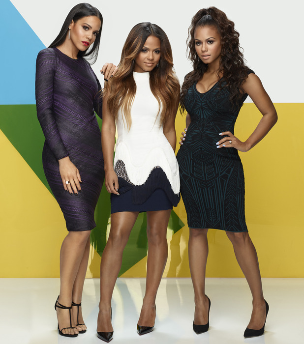 Christina Milian poses with sisters ahead of second reality series, Christina Milian Turned Up, 6th November 2015