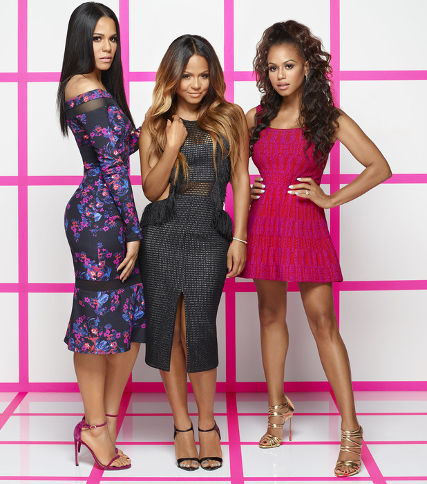 Christina Milian poses with all three sisters ahead of their second reality series on E!, Christina Milian Turned Up, 6th November 2015