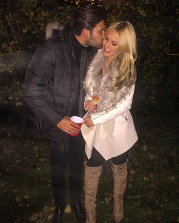 TOWIE star Dan Edgar kisses ex-girlfriend Kate Wright while filming for show, Essex 1 November