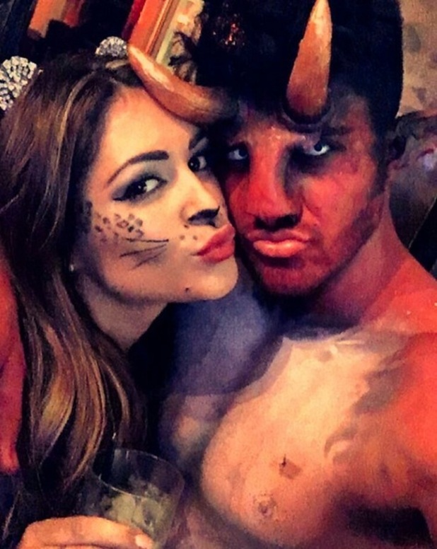 Casey Batchelor and Rogan O'Connor pose for a Halloween selfie, 31st October 2015