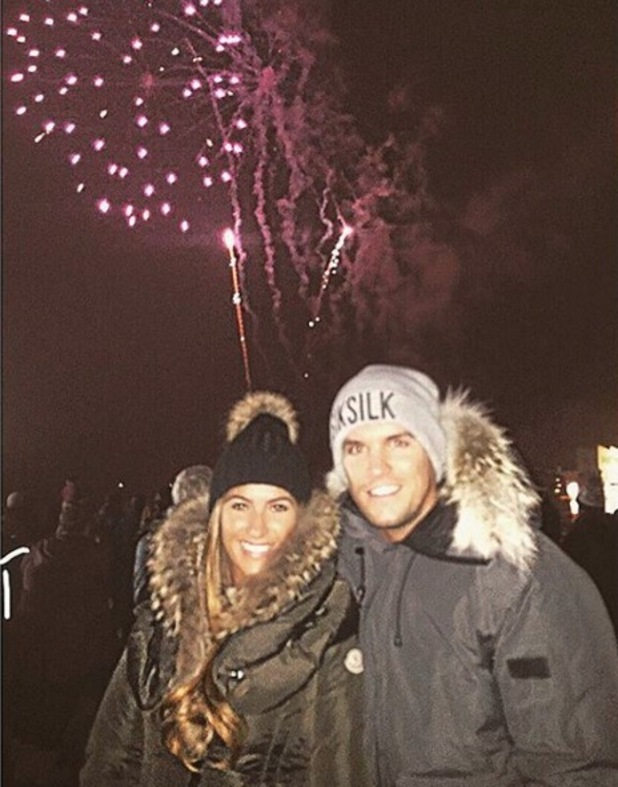 Gary Beadle and girlfriend Lillie Lexie Gregg at the fireworks 5 November