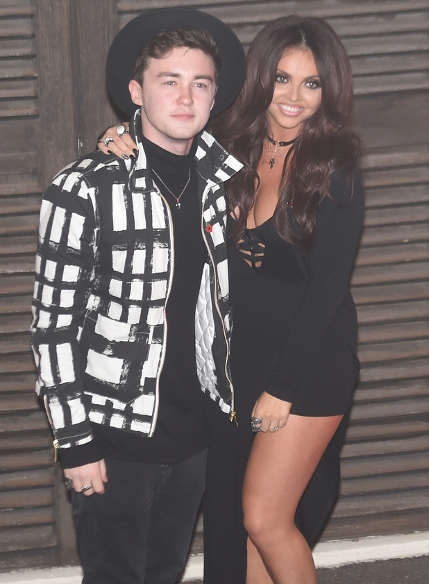 Jake Roche supports Jesy Nelson at The X Factor for Little Mix performance, London 1 November