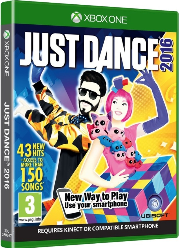 3D image: Just Dance 2016 game.