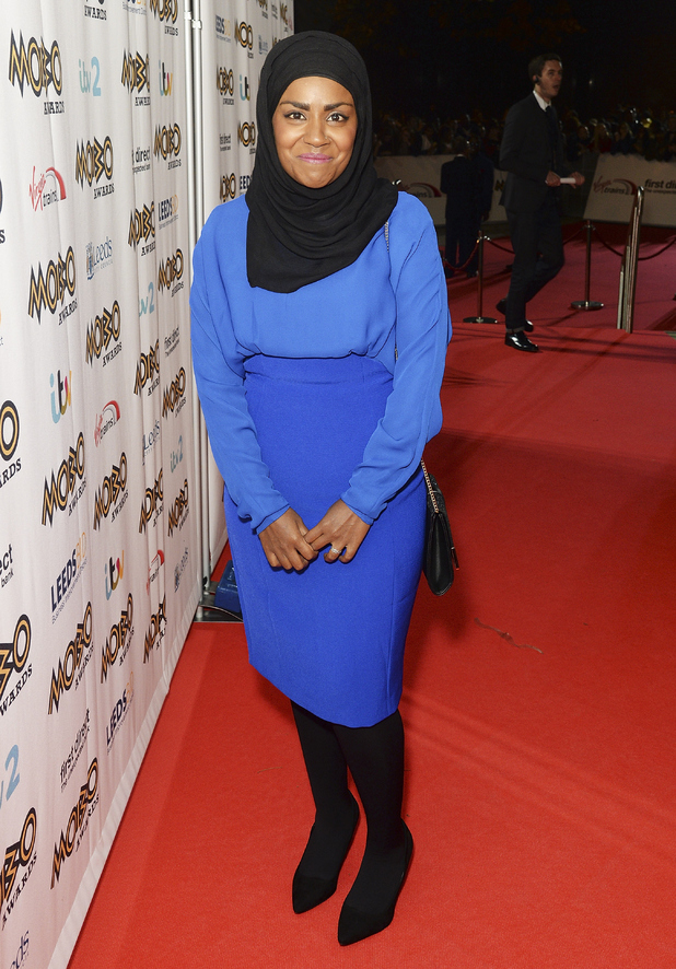 Nadiya Hussain attends the MOBO Awards at First Direct Arena on November 4, 2015 in Leeds, England.