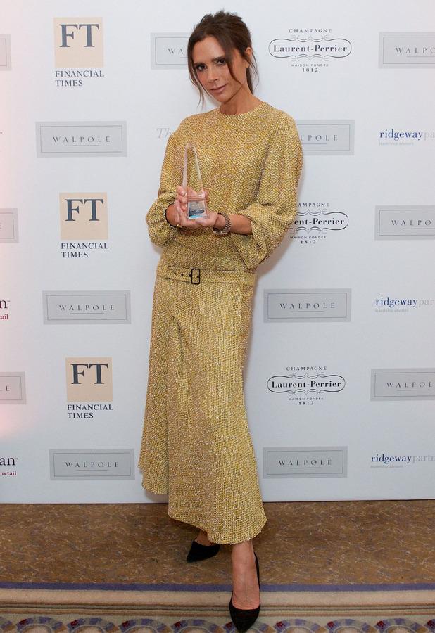 Victoria Beckham at the Walpole British Luxury Awards 2015 at The Dorchester, London,