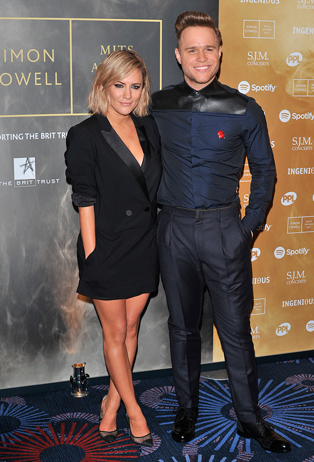 Music Industry Trusts Award in aid of Nordoff Robbins and the BRIT Trust held at the Grosvenor House. Caroline Flack and Olly Murs