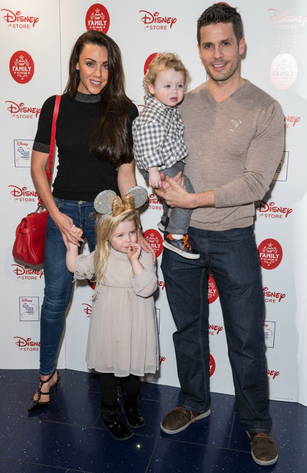 Disney 'From Our Family to Yours' Christmas Party, London, Britain - 03 Nov 2015 Michelle Heaton, Hugh Hanley (right) with kids