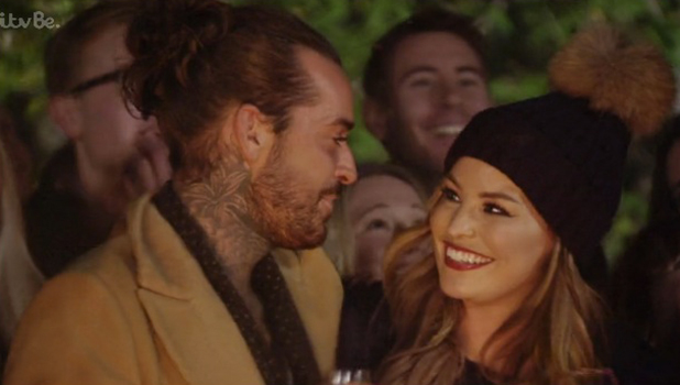 TOWIE's Jess talks about Pete at bonfire, 4 Nov 2015