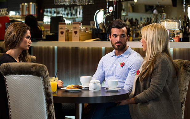 'The Only Way is Essex' cast filming, Britain - 03 Nov 2015 Nicole Bass, Michael Hassini, Kate Wright