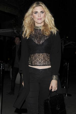 Ashley James attends German Gymnasium restaurant opening in London, 13th November 2015