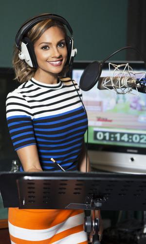 Alesha Dixon voices character in Disney Junior series, Doc McStuffins. 9 November 2015.