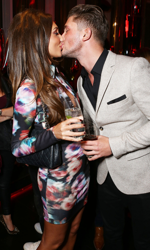 Megan McKenna and Jordan Davies attend Jasmin Walia's launch for Miss Foxy, London 10 November