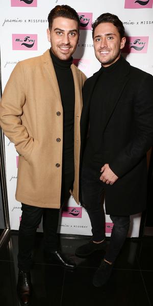 Jon Clark and Stephen Bear attend Jasmin Wallia's clothing launch for Miss Foxy, London 10 November