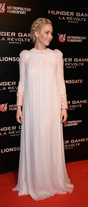 Jennifer Lawrence attends the Hunger Games: Mockingjay Part 2 Paris Photocall, France 10th November 2015