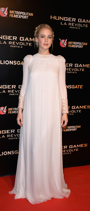 Jennifer Lawrence attends the Hunger Games: Mockingjay Part 2 Paris premiere photocall, France 10th November 2015