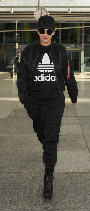 Rita Ora arrives at Heathrow Airport in London after Bambi Awards 2015, 13th November 2015