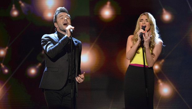 Shane Filan and Nadine Coyle on Children In Need, 13 November 2015.