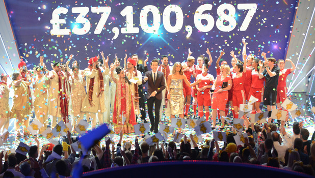 Children In Need reach record breaking total, 13 November 2015.