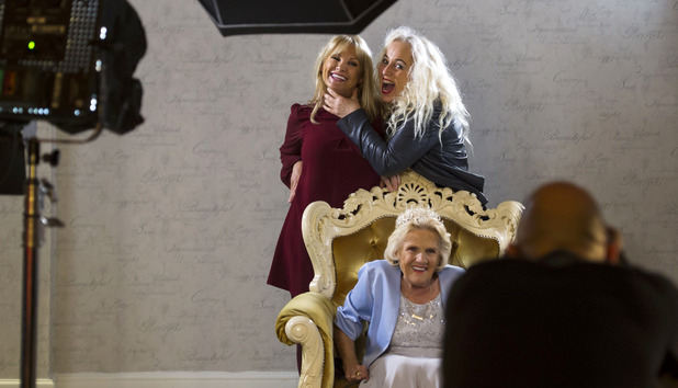The Only Way is Essex's Nanny Pat has her portrait taken before her 80th birthday party, held with a royal theme - 06 Nov 2015.