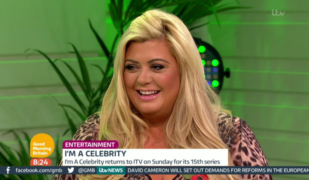 Gemma Collins appears on 'Good Morning Britain' to talk about the new series of 'I'm a Celebrity...Get Me Out of Here!. 10 November 2015.