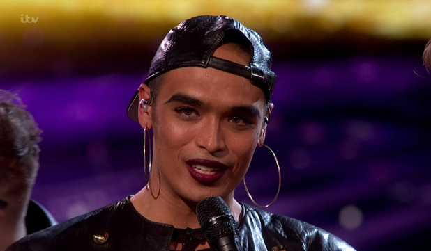 Seann Miley Moore after he was eliminated from the competition in the public vote on the results show of 'The X Factor'. 8 November 2015.