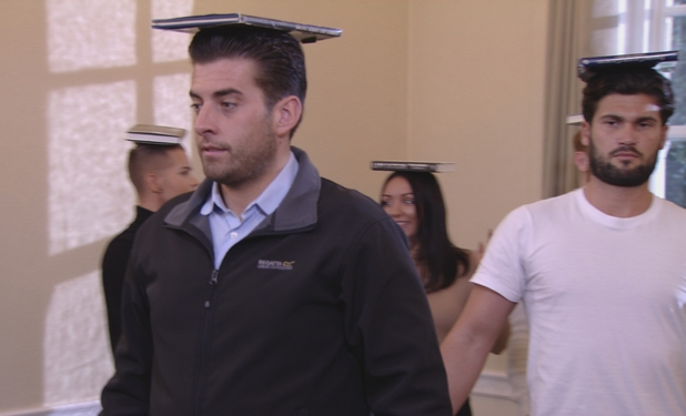 TOWIE: Arg and Dan balance book on their heads as they attend finishing school. Episode airs: Wednesday 11 November 2015.
