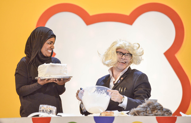 Nadiya Hussain and Harry Hill on Children In Need, 13 November 2015.