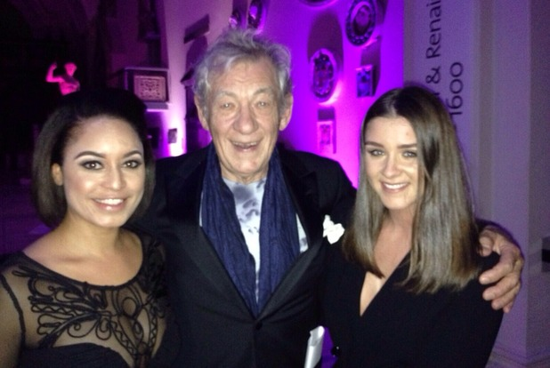 Brooke Vincent Blog: Brooke meets Sir Ian McKellen at Stonewall Awards 10 November