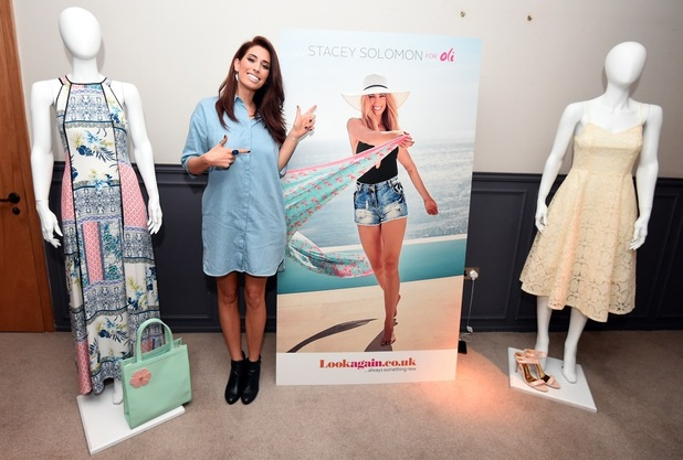 Stacey Solomon celebrates the launch of her Spring/Summer collection for lookagain.co.uk - 13th November 2015