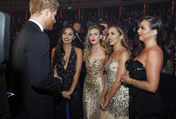 Prince Harry meets Little Mix at the Royal Variety Performance, Royal Albert Hall, London - 13 Nov 2015.