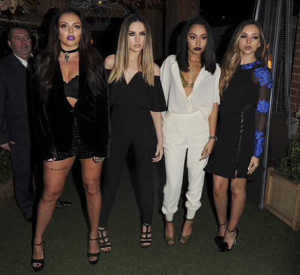 Little Mix pictured at their Get Weird Album launch party in London, 12th November 2015