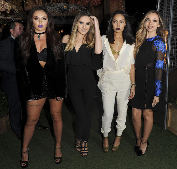 Little Mix at Get Weird album launch party in London, 12th November 2015