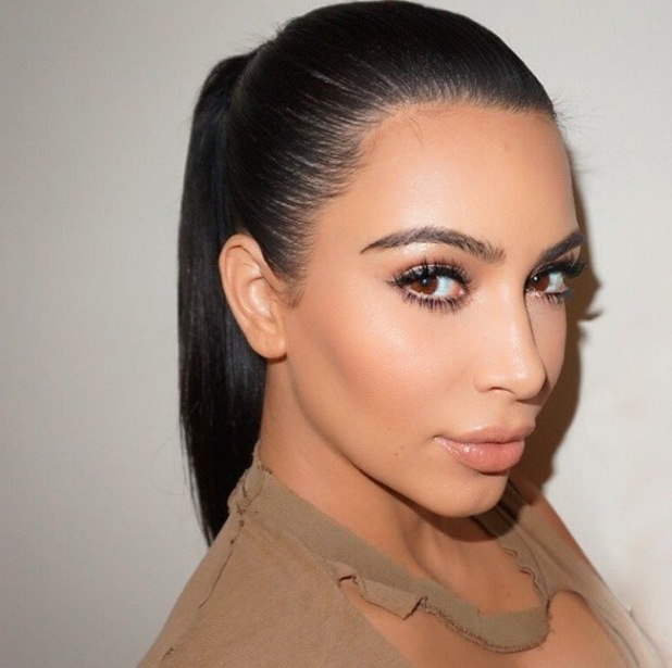 Kim Kardashian shares picture of sleek ponytail Instagram, 13th November 2015