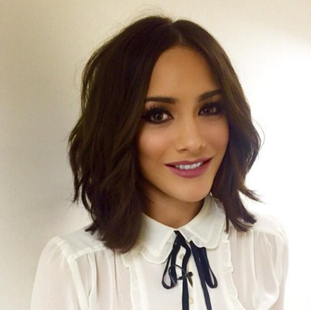 Frankie Bridge shows off gorgeous make-up by Celena Hancock, 10 November 2015
