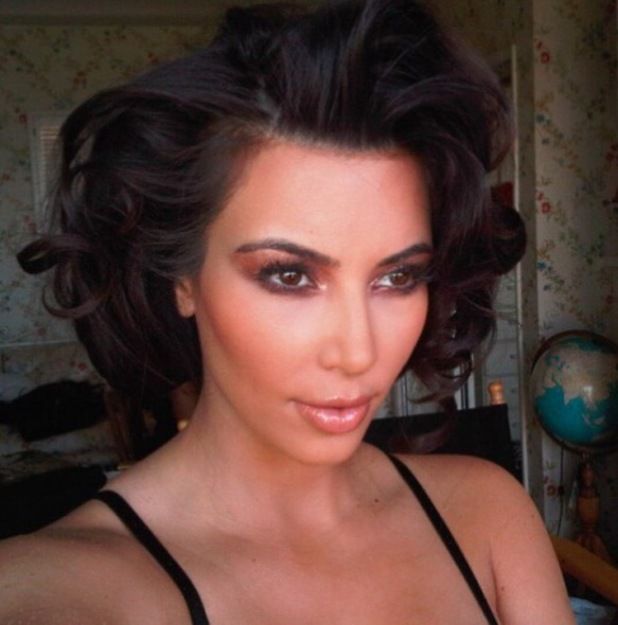 Kim Kardashian shares throwback pictures of her favourite hairstyles, short 50s waves 13th November 2015
