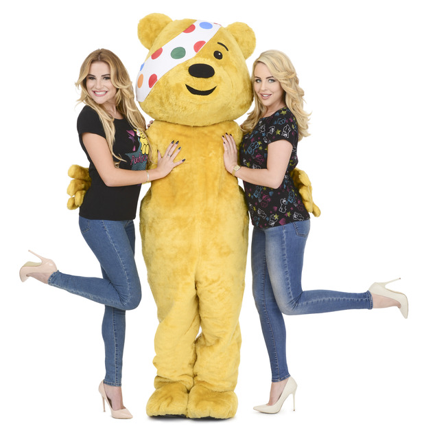 TOWIEs Lydia Bright and Georgia Kousoulou support BBC Children In Need with Asda's official range, November 2015