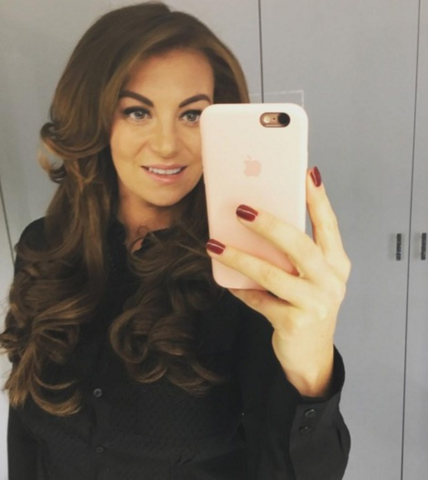 Billi Mucklow poses with her new darker brunette hair thanks toCleo Hair Design in Buckhurst Hill, Essex, 7 November 2015