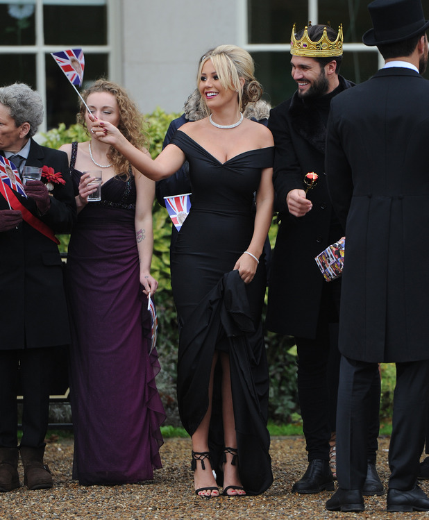 TOWIE's Kate and Dan film a royal wedding theme birthday party for Nanny Pat. 10 November 2015.