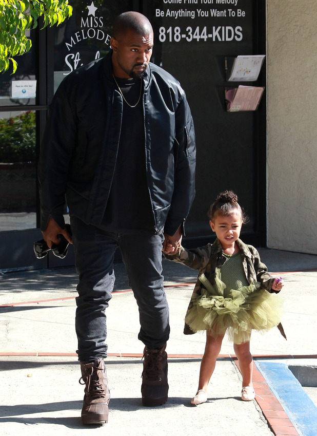Kayne West and Kourtney Kardashian out and about, Los Angeles, America - 11 Nov 2015.