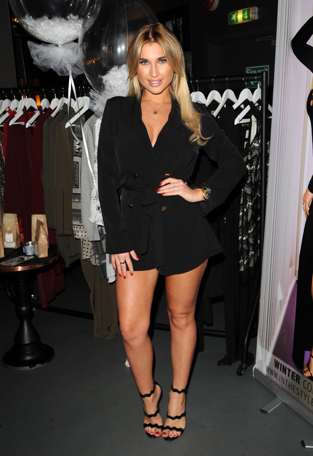 TOWIE's Billie Faiers shows off her In The Style clothing collection at Dirty Martini in London, 10th November 2015