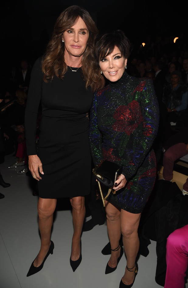 Caitlyn Jenner and Kris Jenner in the front row - Victoria's Secret Fashion Show, Front Row, Lexington Avenue Armory, New York, America - 10 Nov 2015.