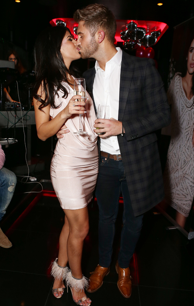 Jasmin Walia and Ross Worswick at her launch for collection with Miss Foxy Clothing, London 10 November