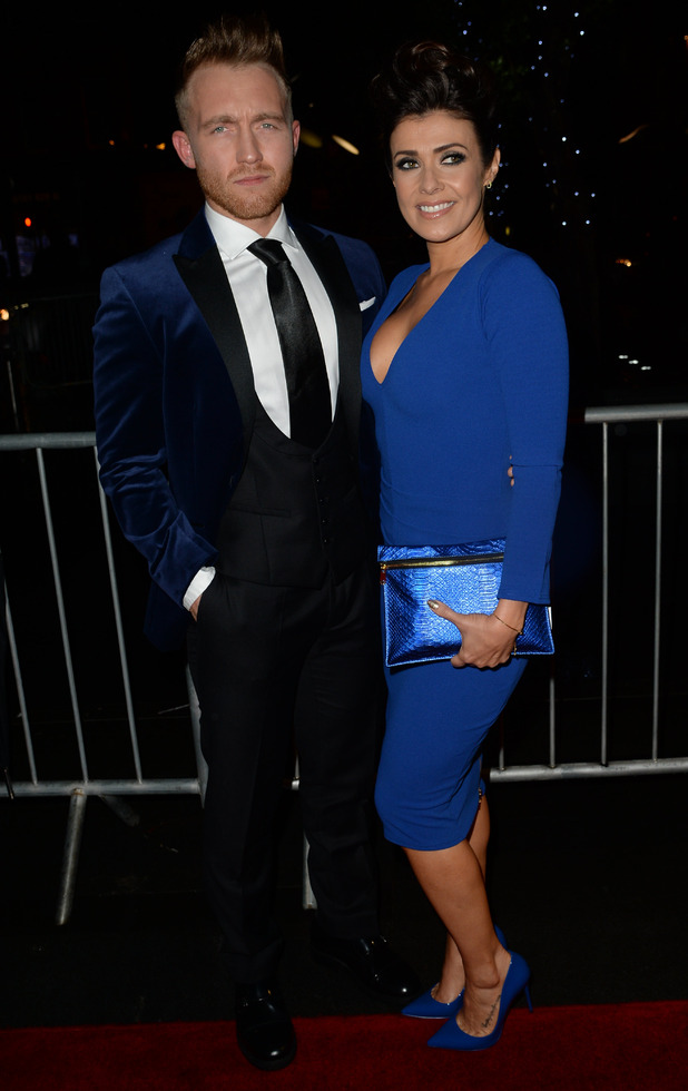 Kym Marsh and beau Matt Baker attend the RTS North West Awards at the Hilton Manchester Deansgate, 14 November 2015.