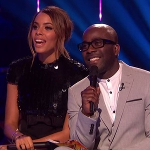 Rochelle Humes and Melvin Odoom on The Xtra Factor. 16 November 2015.