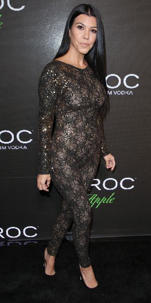 Kourtney Kardashian attends Sean 'Diddy' Combs' birthday party, Los Angeles, 21 Nov 2015